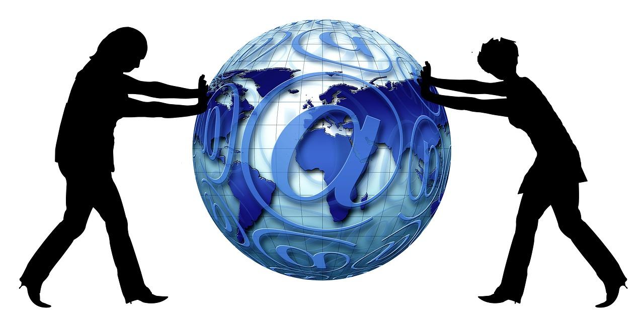 globe, women, slide